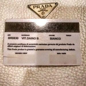 Prada Bags - Authentic Prada white leather purse
